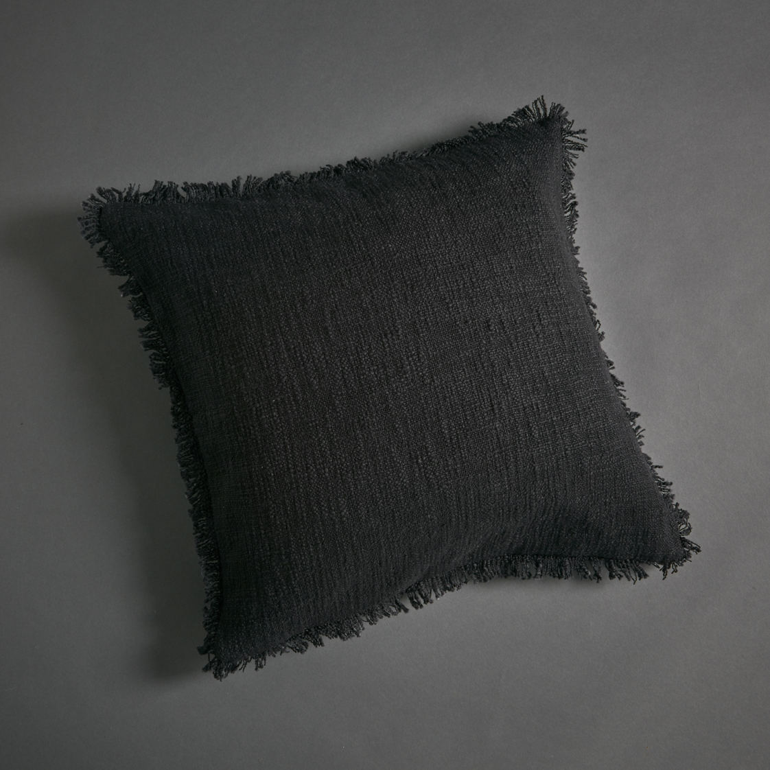Soft Khadi Cushion Cover Black