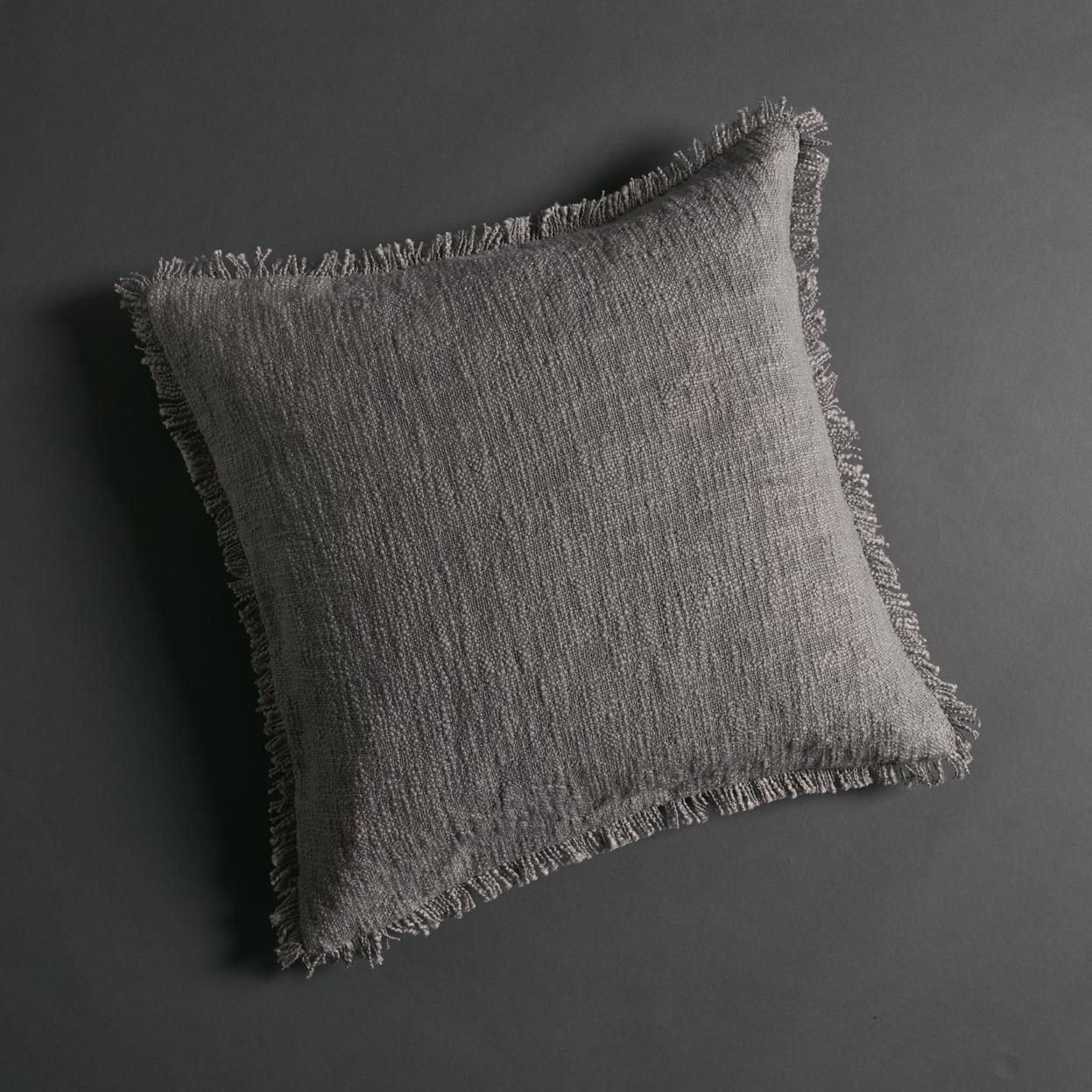Soft Khadi Cushion Cover Dove Grey