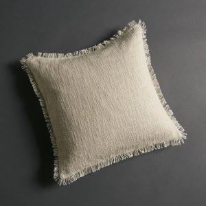 Soft Khadi Cushion Cover – Natural