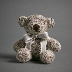 Hand Knitted Teddy Bear – Grey