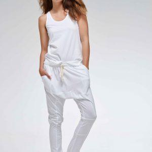 Organic Cotton Lounge Pants – White