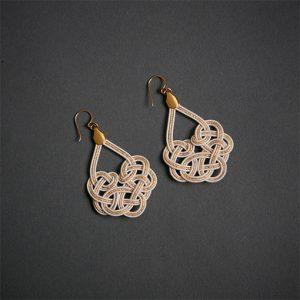 Mizu Woven Earrings – Pearl