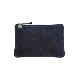 Suede Pouch – Navy