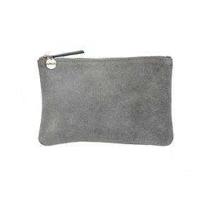 Suede Pouch – Grey