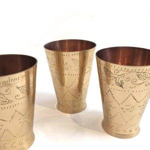 Brass Lassi Cups