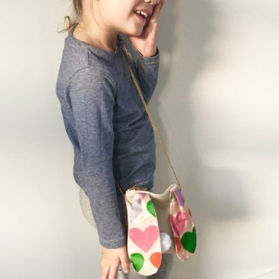 Fairtrade ethical and locally hand made bunny drawstring kids bag