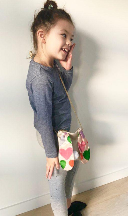 Fairtrade ethical and locally hand made bunny drawstring kids bag