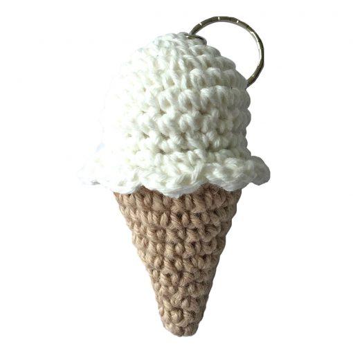 handmade fairtrade handmade ice cream cones crocheted kids toys, crochet kids key rings, crochet kids toys