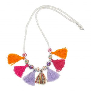 Tabby Necklace Pink