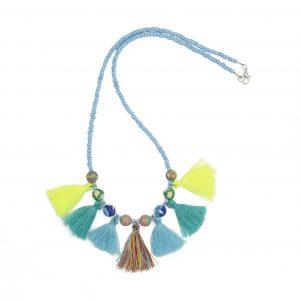 Tabby Necklace Blue