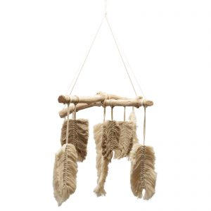 Paige Feather Macrame Mobile