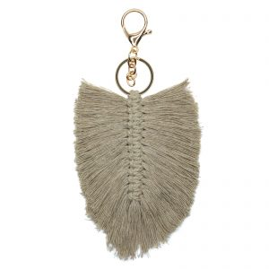Farrah Key Ring – Natural