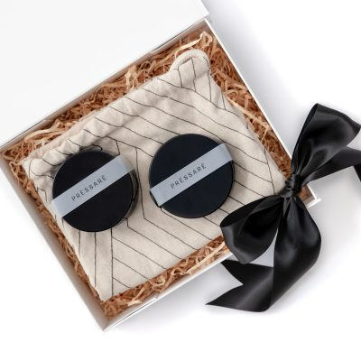 The 'Cameron' Mens Gift Box features two Pesarre Men's Products - the Wattle Aftershave Balm and the Hair and Body Shampoo Bar, presented in a reusable drawstring bag. Perfect practical gift for any man!