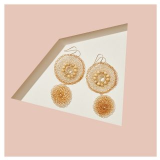 Simple, elegant - yet unique. 🌸  These beautiful earrings features traditional Peruvian crocheting skills. Handmade by our Sister Pam by Pam Designed #BackHerBrilliance   This is a statement piece that could be worn from day to night.  Shop now on our Marketplace