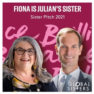 Meet Julian Potter, the CEO of Visa and his Sister Fiona, founder ofChocolate on Purpose.  Sister Pitch 2021 is happening on November 9.  30 brilliant CEO's will be matched with one of our Sisters who will be pitching her business.   30 CEO's x 30 Sisters creating BIG impact!  #BackHerBrilliance #SisterPitch2021