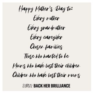 Motherhood comes in many forms. Happy Mother's Day to our warriors, our heroes, our life sources. Wrap yourself in love today 💜💜💜