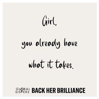 🤍 #BackHerBrilliance